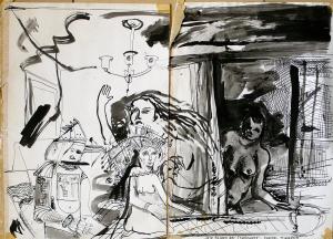 """""""die Folgen der Trunksucht"""", tusche, 1979"""