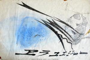 """""""conditio sine qua non"""", graphit, kreide, 1989/2015"""