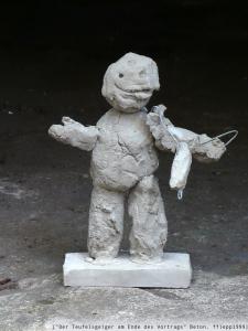 """[""""Der Teufelsgeiger am Ende des Vortrags"""", Beton, 1999]"""