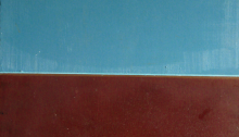 """Paesaggio, una nuvola"", oil on woodpanel,  1993"