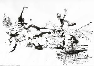 """""""landschaft mit hund"""", tusche, fflepp2012"""