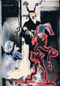 """""""deprimere"""", foto, farbe, collage, 2011"""