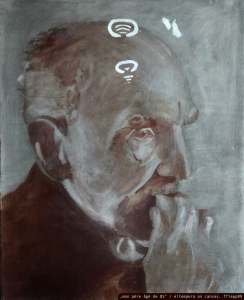 """mon père âgé de 85"" / oil on canvas, 1989, veröffentl. 2015"