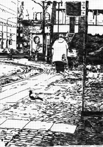 """urban sketch südbahnhof"", 2015"