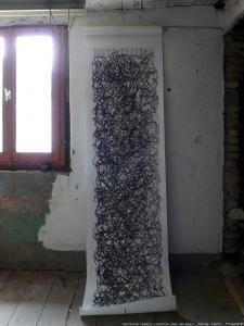 """""""epistulam reddere (zunächst ohne Adresse)"""", Edding, Papier, 2014"""